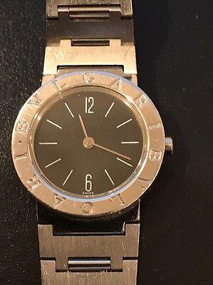 Bvlgari Stainless Steel Date Black Dial Quartz Women's Watch BB26SS