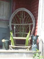 Bent Willow Twig Chair . rustic furniture