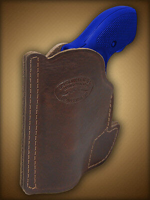 Barsony Brown Leather Revolver Concealment Pocket Holster S&w Bodyguard 38 2
