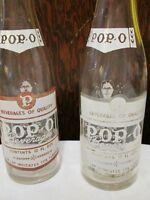 Rare Pop-O soda bottles 12 fl oz.