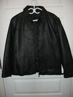 Manteau de cuir doublé NEUF XXL