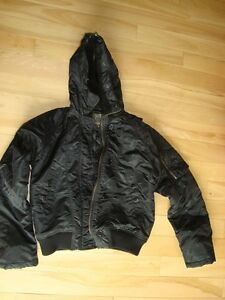 Brody Black Bomber Style Winter Jacket - Mint Condition Size LG