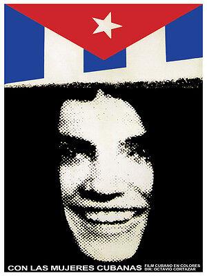 Con Las Mujeres Cubanas Vintage Film Poster.graphic Design. Art Decoration.3137