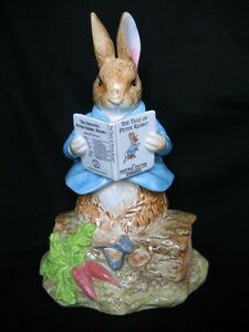 "SCHMID ""PETER RABBIT SITTING ON LOG"" MUSICAL"