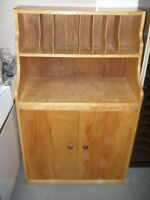 REDUCED TO CLEAR Wood Cabinet with File Holders $75.00