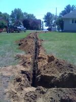 Post Hole Drilling Trenching Small Excavation