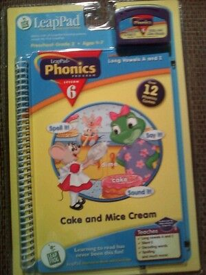 New Leapfrog Frog Leap Pad Leappad Cake And Mice Cream Phonics 6 Long Vowels A I