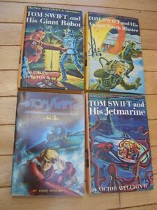 (3) TOM SWIFT JR ADVENTURES BOOKS AND (1) TOM SWIFT ARK 2