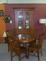 New Table Chairs Buffett Hutch