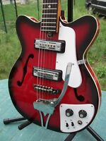 Jedson Vintage MIJ 1960's Thin Archtop Ultra Rare Hipster