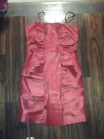 Calvin Klein Red Skinny Stap Dress (Size 10)