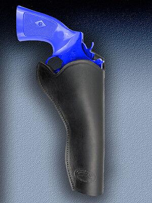 Barsony Black Leather Cross-draw Gun Holster For Rossi Model 972 6