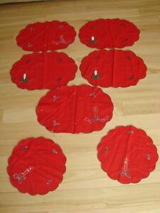 Christmas Cotton Placemat Set - 7 Pieces