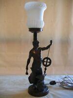 ANTIQUE INDUSTRIAL SCULPTURAL LAMP
