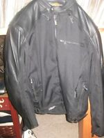 Large Power Trip coat Leather and Canvas mixed  & Shoei Helmet