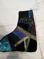 Xmas Stocking Blue glittery #2