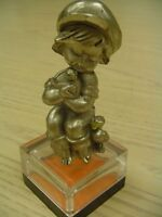 Peltro Italy Pewter Boy with Ducks Figurine