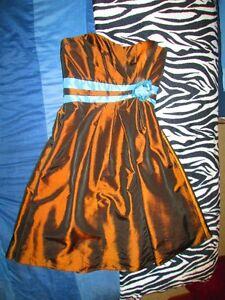 Metallic Brown and Blue B2 Dress Size 10