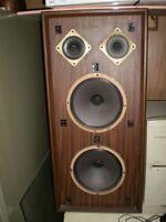 2 Large Wooden Bristol Speakers