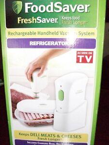 Foodsaver Rechargeable Handheld Vacuum System + Bags