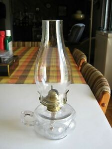 "Antique Oil Lamp - "" Eyebrow"""