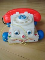 Vintage 1960's Fisher Price Chatter Telephone #747 Pull Toy