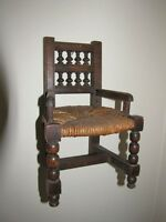 CHAISE BRETONNE MINIATURE ANTIQUE CHAIR FROM FRANCE