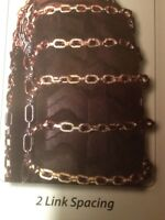 """2014 New SKIDSTEER Tire Chains, Square Link, 5/16"""" Chain."""