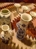 Vintage Blue Delft Ware Pottery + BONUS
