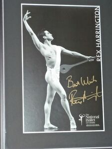 """""""REX HARRINGTON"""" BALLET POSTER - Framed & Autographed North Shore Greater Vancouver Area image 1"""