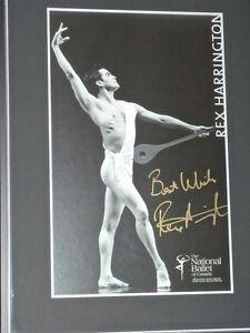 """REX HARRINGTON"" BALLET POSTER - Framed & Autographed"