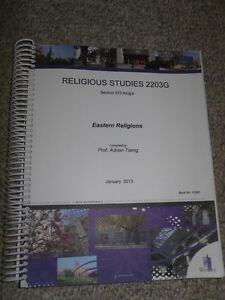 Eastern Religions Custom Course Book