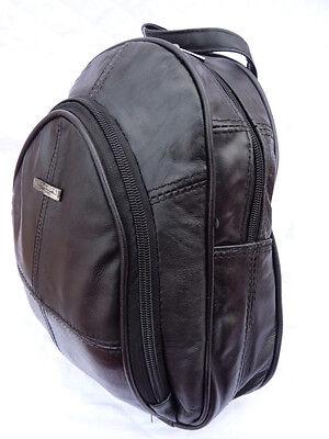 Soft Leather Backpack Rucksack Ladies Womens HandBag Black Small Bag Bags 8491