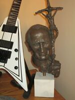 "Pope John Paul  2 large bronze sculpture - 23"" tall"