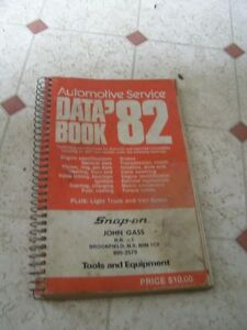 Automotive Service Data Book