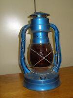 antique oil burning lamp