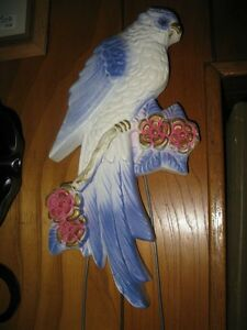 VERY OLD VINTAGE CHALK WARE BLUE JAY - PRISTINE CONDITION!!!