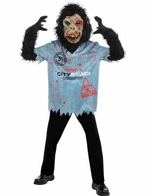 Affe Zombie Killer Gorilla Kostüm Halloween Kinderkostüm Gr - Zombie Gorilla Kostüm