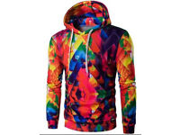 Abstract colormix pullover hoodie