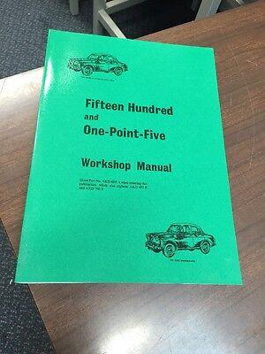 Wolseley 1500 and Riley 1.5 Workshop Manual Instruction Handbook Repair Service