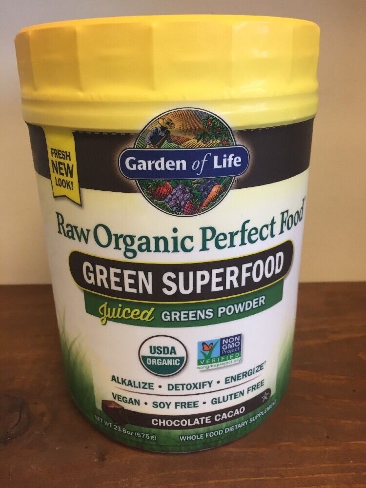 Garden of Life Perfect Food Chocolate Cacao RAW Organic Green