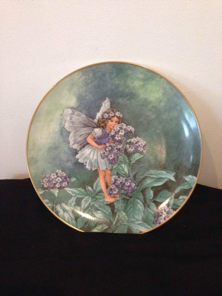Heliotrope Flower Fairy Villeroy Amp Boch Flower Fairies Plate The Heliotrope Fairy Cicely Mary Barker