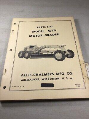 Allis Chalmers M70 Motor Grader Parts Catalog Manual