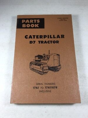 Caterpillar D7 Tractor Parts Catalog Manual