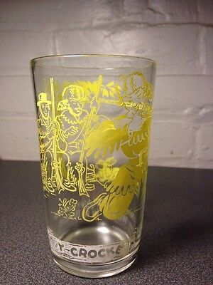 VINTAGE DAVY CROCKETT TUMBLER JUICE GLASS STEADY NERVE AND TRIGGER SQUEEZE