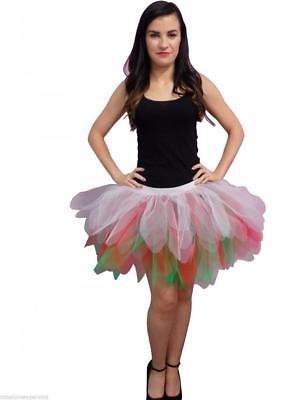 Neon Tutu Skirt 80s Fancy Dress Hen Party 6 Layer Wales Costume Rugby 16