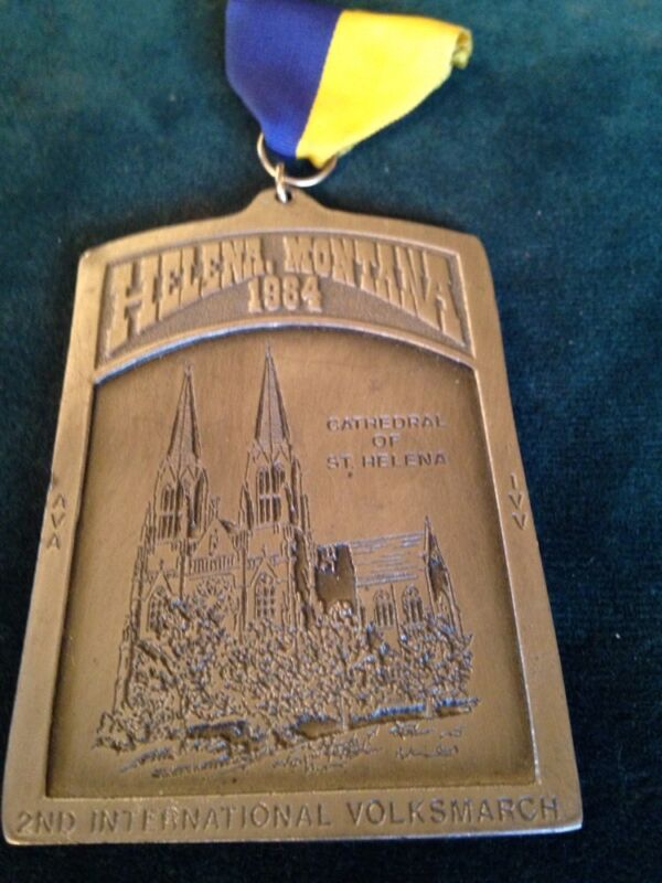 Helena Montana 1984 Second International VOLKSMARCH AVA IVV MEDAL CATHEDRAL