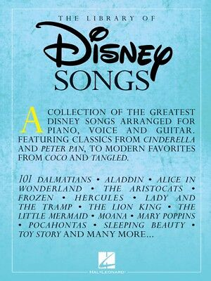 The Library of Disney Songs Sheet Music Piano Vocal Guitar SongBook 000287155
