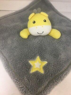 Bear Gear Giraffe Gray Yellow Star Security Blanket Lovey