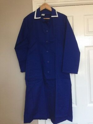 South West Royal Blue Workwear Dress Dinner Lady Cleaning Nurse Size 12